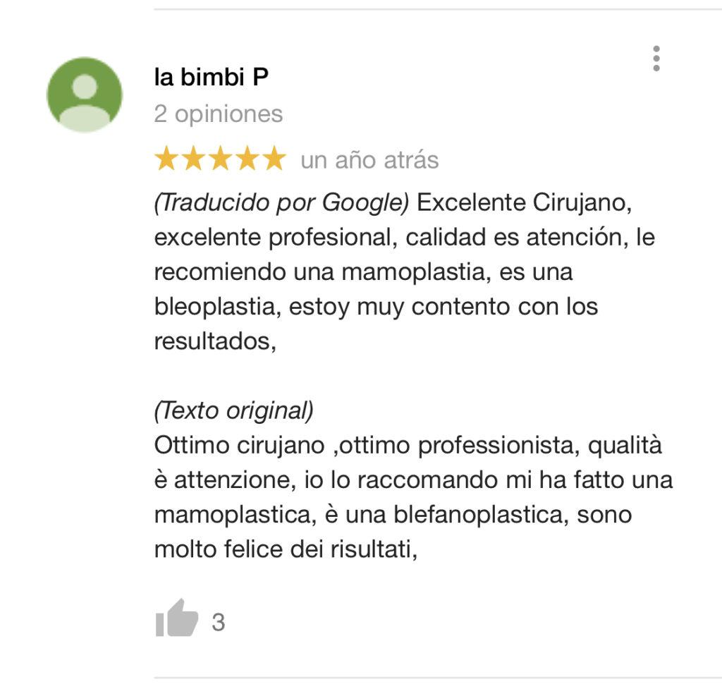 Comentario Dr. Giovanny Alvarado - Cirujano Plastico de Cali, Colombia