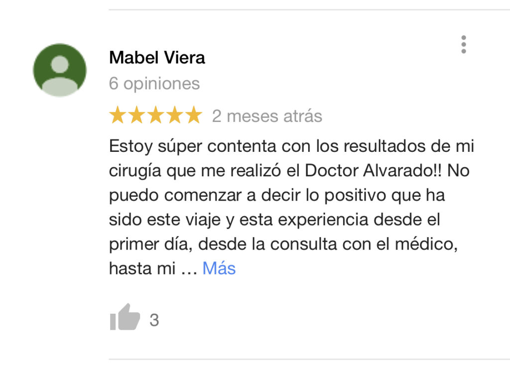 Comentarios del Dr. Giovanny Alvarado - Cirujano Plastico de Cali, Colombia